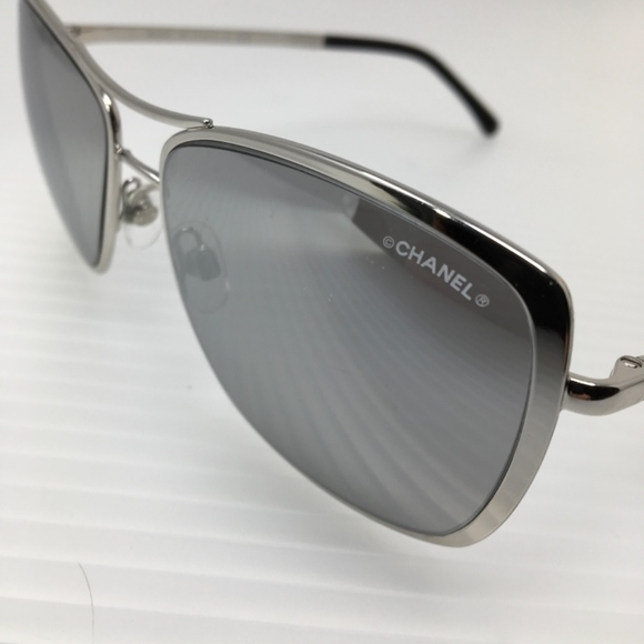 b55752902cb5 New Chanel Silver Mirrored Sunglasses